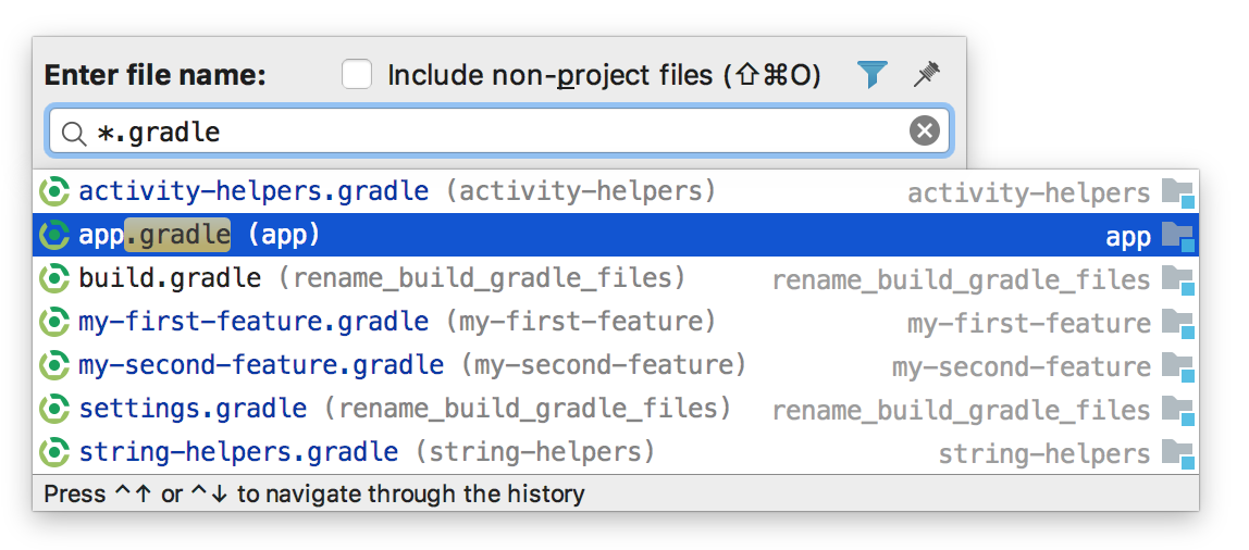 Renamed Build.gradle files